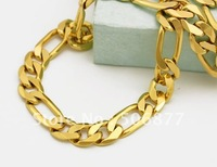 NEW 18k Real Yellow Gold Filled Necklace 60CM 12MM Curb chains Men's Jewelry