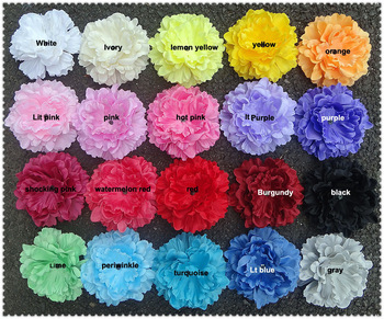 "Free shipping,Approx.5"" 100pcs/lot,20colors Head-Single Soft Petal Silk Peony Flower Gorgeous in STOCK(FC04)"