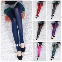 Free shipping!2012 Hot models colored velvet foot pants pantyhose stockings leggings