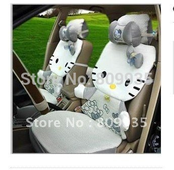 super fashion top Ice HelloKitty Auto Car Rearview Front Rear Seat Saddle Cover 12pcs Cars FREE SHIPPING  EMS