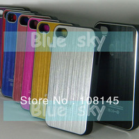 for iphone 4S case metal aluminum many colors 1pcs each order free shipping