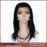 "100%  Chinese remy hair 8""-24"" straight 1# Full Lace Wigs"