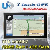 Car GPS Navigator 7 Inch Touch Screen 800MHz Sirf Altas VI 256MB DDR3 8GB flash Free Map FM , GPS Navigator System