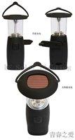 Wholesale Hand crank dynamo camping lantern Solar camping light Portable outdoor LED solar lamp 36pcs/lot Free shipping