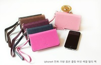 HOT SALE fashion wallet case for iphone 4, for iphone wallets (XN01)