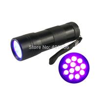 12 LED UV Flashlight Nail Polish Nail Shellac UV Gel 395nm-410nm Blacklight Pet Urine Detector Torch D09UV-1-0-3