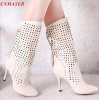 ENMAYER 2015 Fashion women boots high heels platform pumps Spring and Summer Boots ,  High -heeled boots Shoes
