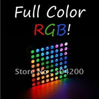 Free Shipping Offer Tracking Number 8x8 Matrix RGB LED Common Anode Diffused Full Colour
