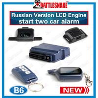 Free shipping 2 way car alarm system Starline B6 Russian version Anti-hijacking  Long distance 1200m