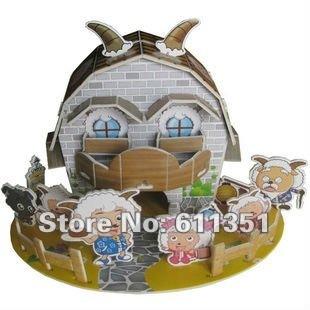 Educational toy Paper Models Children Puzzle Mini 3D jigsaw puzzle-Pleasant
