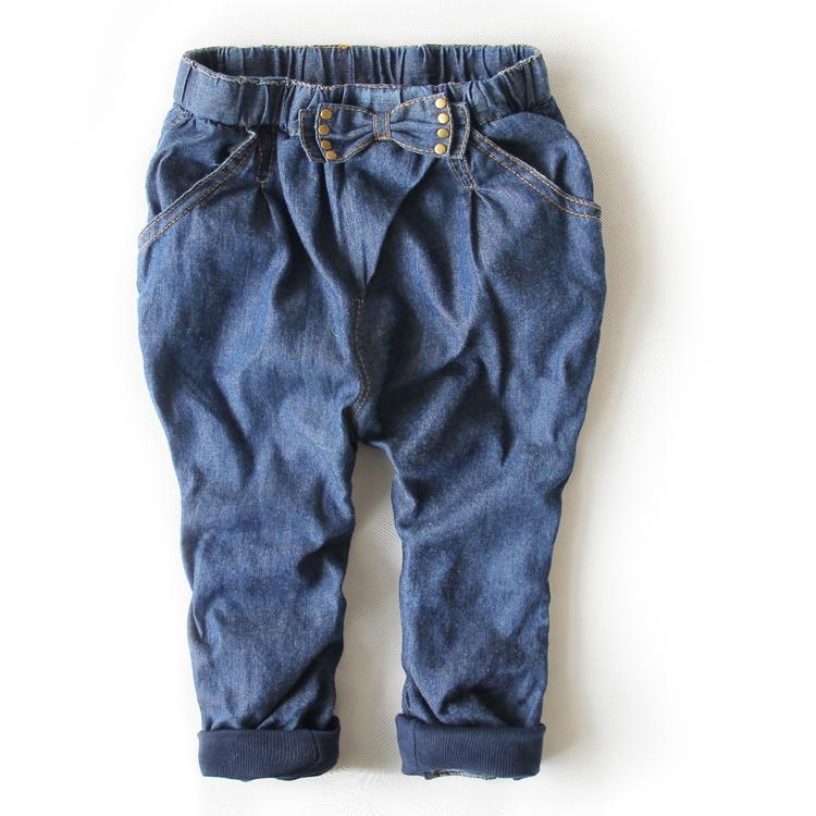 Wholesale Baby Girls Pretty Buttlfy font b Jeans b font Pants Long Pants Children Demin font Cách thức chọn mua quần jeans nữ chuẩn, hợp style