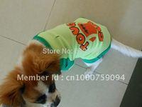 Green V Neck Pet Poodie Pekingese Mini  Schnauzer Dog Shirt Tee T-Shirt Coat Clothes