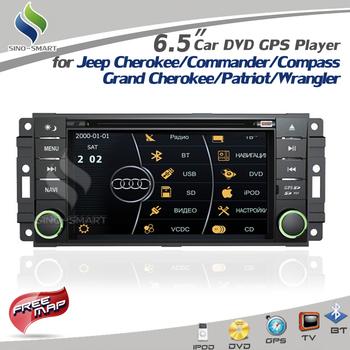 Virtual 8 DISC 3D UI 6.5'' ARM11 Car DVD GPS BT TV RDS RADIO CANBUS for Jeep Grand Cherokee Commander Compass Patriot Wrangler