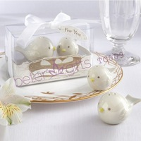 40pcs=20box Love Birds Salt and Pepper Shakers door Gifts TC009 Wedding Favours