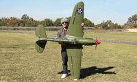 RTF Version / P-40  RC plane /   Wingspan: 2000mm /  Flying weight: 4500g  & Thrust > 5600g / Ready To Fly