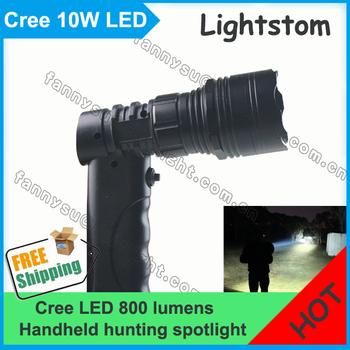 Cree T6 led handheld spotlight,10w 800Lm hunting spotlight, camping spotlight,emergency search light.10w led portable spotlight.