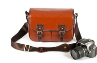 Free shipping  Fashion Rare Old Vintage Look Leather DSLR Camera Bag
