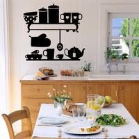 Funlife Charming Kitchen Vinyl Wall Sticker Decals Stickers with 6 Mini Hooks as Bonus L2012236