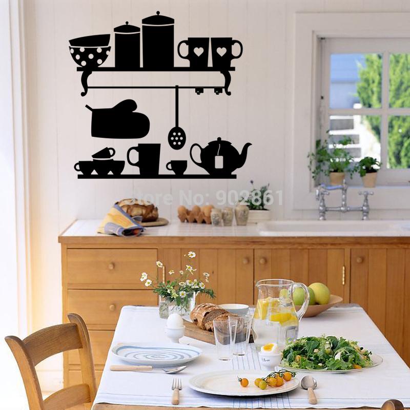 Baño One Piece Trebol:funlife cocina encantador de vinilo etiqueta de la pared pegatinas de