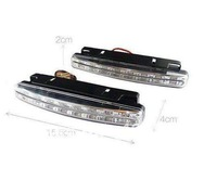 2pcs 8 LED Universal Car Light DRL Daytime Running Head Lamp Super White+Free shipping