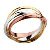 Free Shipping, 18K White Gold & Rose Gold Plated 3-Circles Silver Ring, Fashion Jewelry, Size 6/7/8/9/10, Factory Price! (R058)
