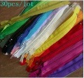 "Freeshipping Lot 30 Color Nylon Coil Zippers Tailor Sewer Craft 7""(China (Mainland))"