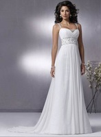 DM0018 Best-selling sexy open back beaded summer beach wedding dress 2013
