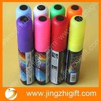 Wholesale 8pcs/lot 10mm Fluorescent pen marker pen for led writing board