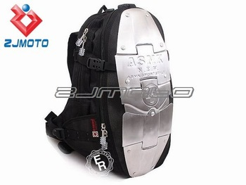 Motorcycle Waist packbag Motocross Backpack Racing Backpack fashion ASMK alloy bag backpacks 5 metal plate aluminum backpack