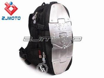 Motorcycle Waist packbag Motocross Backpack Racing Backpack fashion ASMK alloy bag backpacks 5 metal plate aluminum backpack
