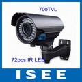 ISEE Style Free Shipping China Post 1/3 inch SONY Super HAD CCD 700TVL High Resolution OSD Outdoor CCTV IR Camera