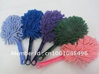 Chenille microfiber triangle dusting brush car wash brush color random