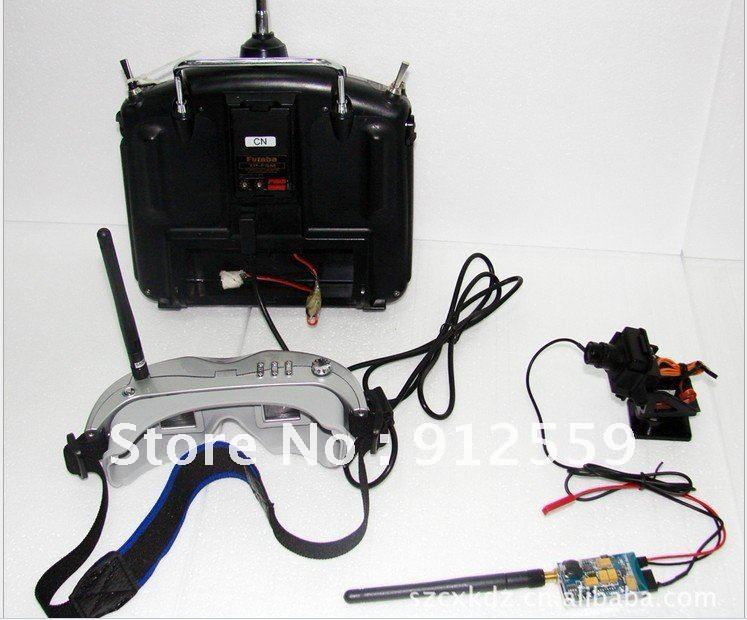 High quality High-quality ALL-IN-ONE wireless video goggle FPV kit system Excellent for RC Fans(China (Mainland))