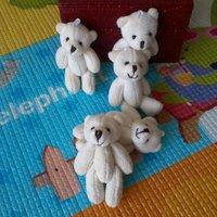 Hot Sale Free shipping, 30pcs/lot, 15cm Teddy bear use for bag,callphone,Promotional items.   toy bear, plush bear..