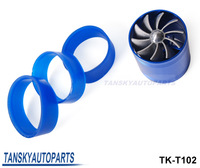 10PCS Turbo supercharger Twoside Fan Performance Force Flow Turbine Fuel Saver have stock TK-T102