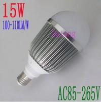 free shipping ac85-265v led bulb 15w luminous flux 1500lm led lamp 15*1w warranty 2 years