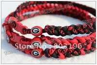 NEW Arrival US University Basketball NCAA Triple Braided Necklaces Customize Color Assortments Any Size Free Shipping 100PCS/Lot