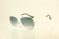 Free shipping New Style Brand sunglass Desinger sunglass mens/women's Fashion metal White sunglass Grey gradient lens 58mm box