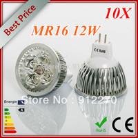 10pcs/lot High power Dimmable MR16 4x3W 12W Rotundity LED Lamp LED Light Bulb Downlight light bulb..