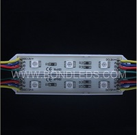 Free shipping ! Waterproof RGB color 20pcs/string waterproof led pixel module,3pcs SMD RGB 5050