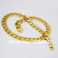 NEW Vogue 24K Yellow Gold Filled Men's Necklace 60CM 12MM Curb Chains GF JEWELRY