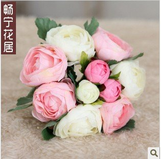 (10 heads/bunch)Wholesale,high artificial fake silk rose,Anne rose,wedding bridal bouquet,new product,craft,home decor,promote(China (Mainland))