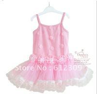 lace dress girls dress, princess ballet dress,flower dresses 5pcs/lot mix size free shipping