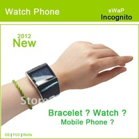 "sWaP-Incognito  2012 bracelet Watch Phone with1.46"" Touchscreen MP3, FM"