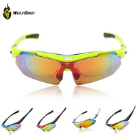 WOLFBIKE Bicycle Sun Glasses Cycling Glasses Goggles 5 Interchangeable Lens Sports Sunglasses Polarized Driving Racing Eyewear