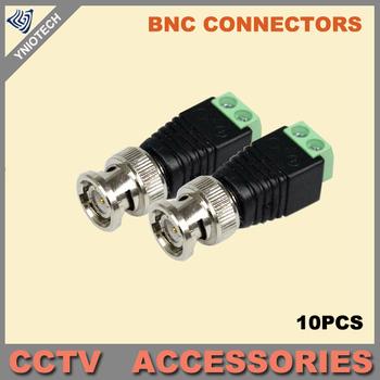 10PCS Coax CAT5 To Camera CCTV BNC UTP Video Balun Connector Adapter BNC Plug For CCTV System