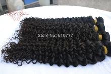 """Malay-sian Vir-gin Curly Hair Weft 12""""-30"""" hu-man hair extension free shipping(China (Mainland))"""
