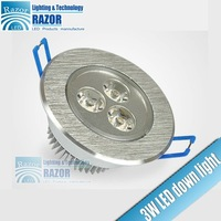 Free Shipping 3W led downlight,300lm-315lm,high-quality (HQ),Special District!