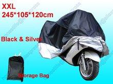 Wholesale 100pcs XXL 245 105 120 cm Motorcycle Motorbike Waterproof UV Resistant Universal Cover Free shippiing(China (Mainland))