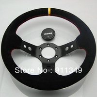 MOMO 13 inches Nubuck leather Steering Wheel, Drifting steering wheel for Modified Car-13012yellow